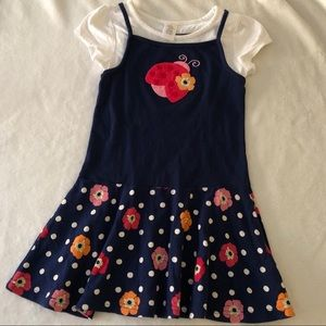 Gymboree ladybug dress size 5 knit